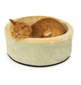 "K&H K&H Thermo Kitty Bed - 20"" diameter - sage"