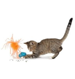 PetSafe PETSAFE Funkitty Twist n Treat with feather teaser