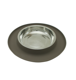 MessyCats MessyCats  - Silicone Feeder w. StainlessSaucerBowls - Grey