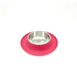 MessyCats MessyCats  - Silicone Feeder w. StainlessSaucerBowls - Watermelon