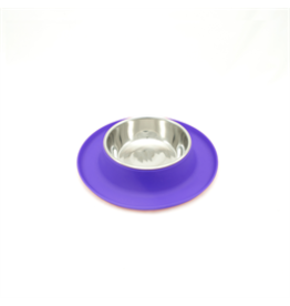 MessyCats MessyCats  - Silicone Feeder w. StainlessSaucerBowls - Purple