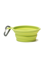 MessyMutts MessyMutts - Silicone TRAVEL Bowl - M Green