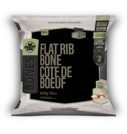 Big Country Raw BCR BONES Beef Flat Rib Mini 2lb