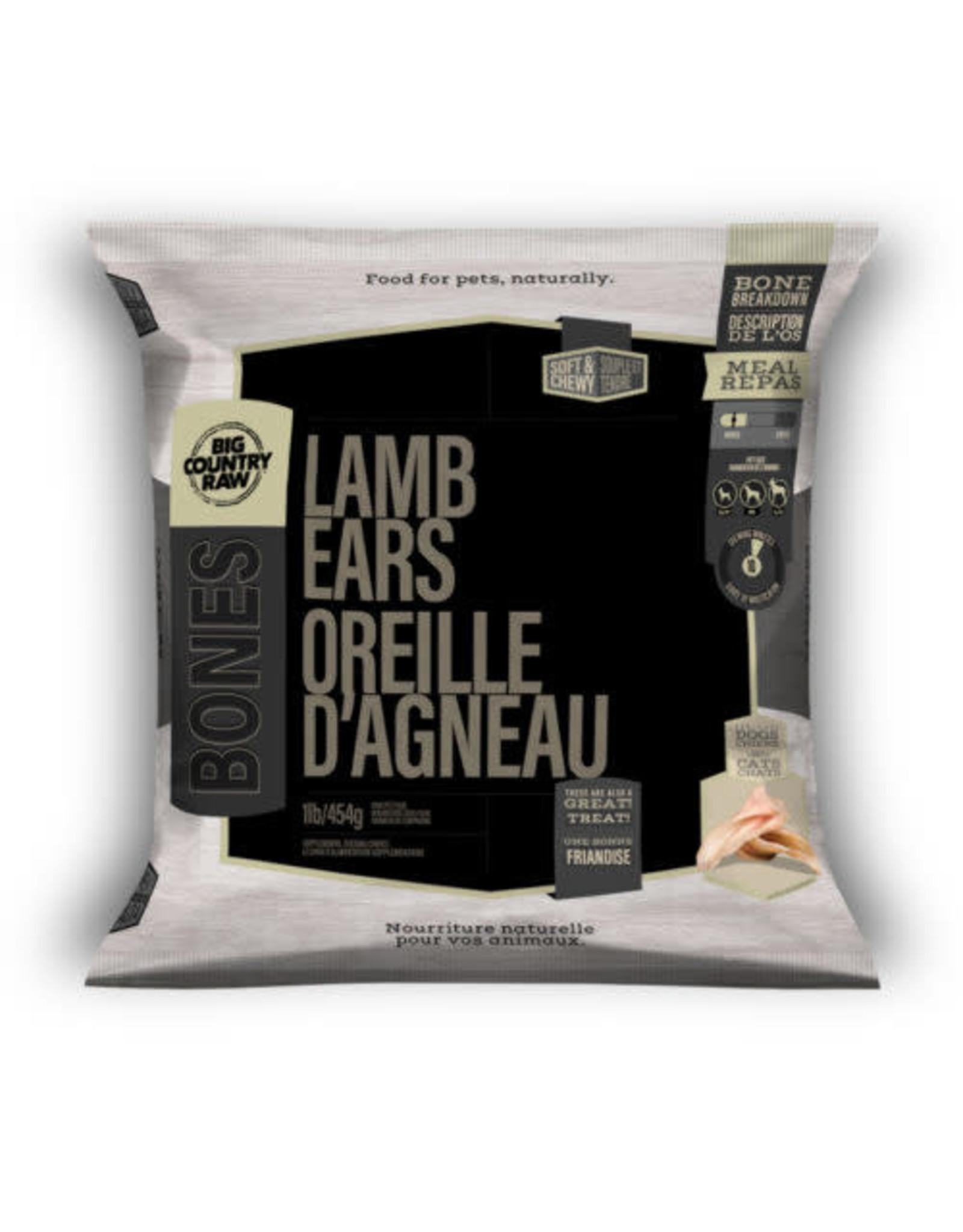 Big Country Raw BCR BONES Lamb Ears 1lb