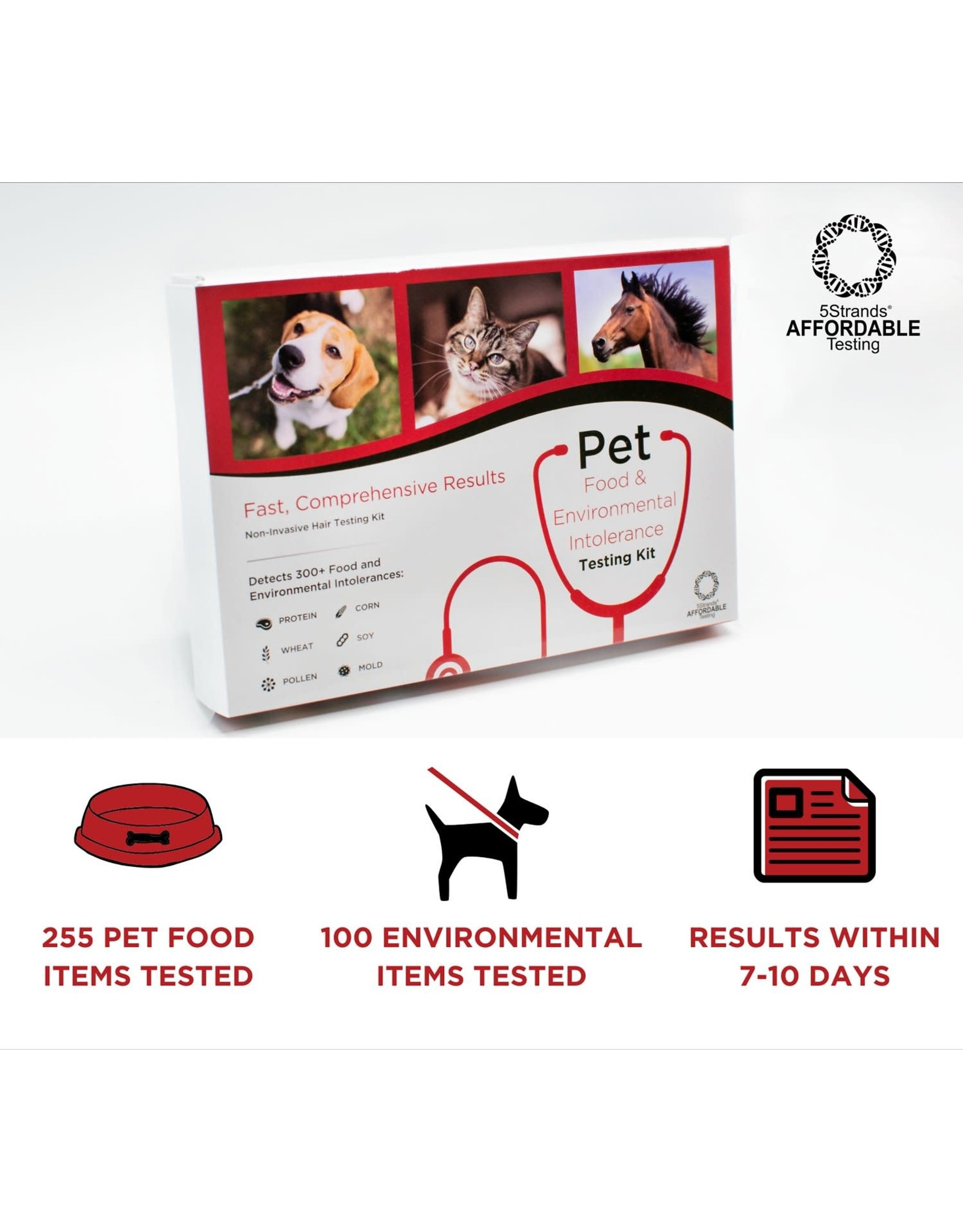 5 Strands 5 STRANDS Pet Food + Environmental Intolerance Testing Kit
