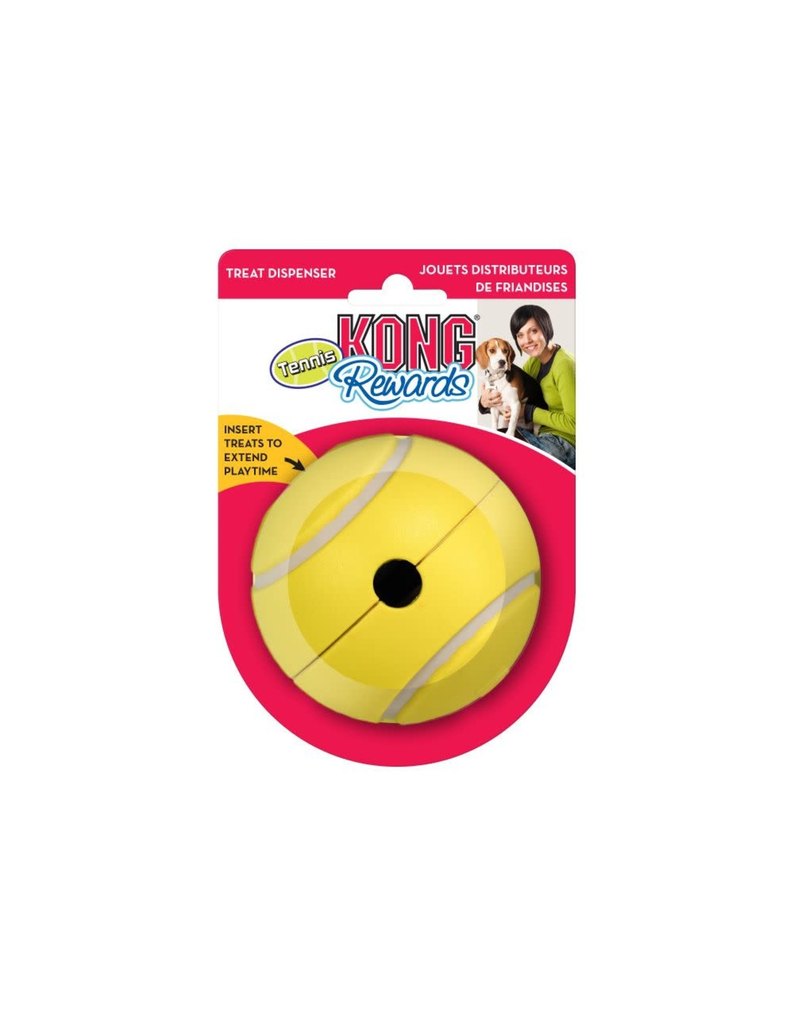KONG KONG - Interactive - Rewards Tennis Ball Treat Dispenser L