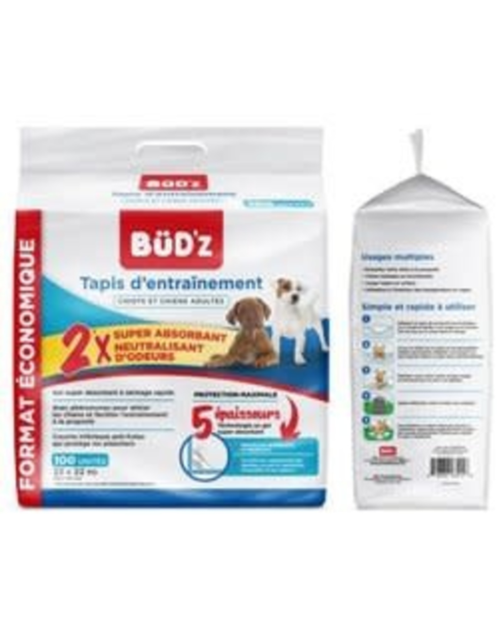 BUDZ BUDZ Training Puppy Pad 22in - 100pk