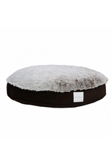 "KORT & CO Kort + Co - Funky Fur - Grey/Brown Round Bed 42"" (XL)"