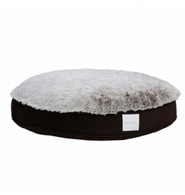 "KORT & CO Kort + Co - Funky Fur - Grey/Brown Round Bed 42"" (XL)"