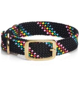 "Mendota Mendota Dbl-Braid Collar 1""w up to 21"" - Black Confetti"