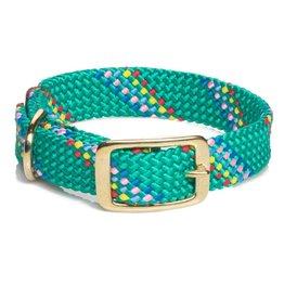 "Mendota Mendota Dbl-Braid Collar 1""w up to 21"" - Kelly Confetti"