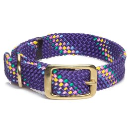 "Mendota Mendota Dbl-Braid Collar 1""w up to 21"" - Purple Confetti"