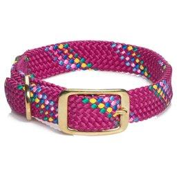 "Mendota Mendota Dbl-Braid Collar 1""w up to 21"" - Raspberry Confetti"