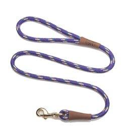 """Mendota Mendota Large Snap Leash 1/2"""" X 6' - Purple Confetti"""