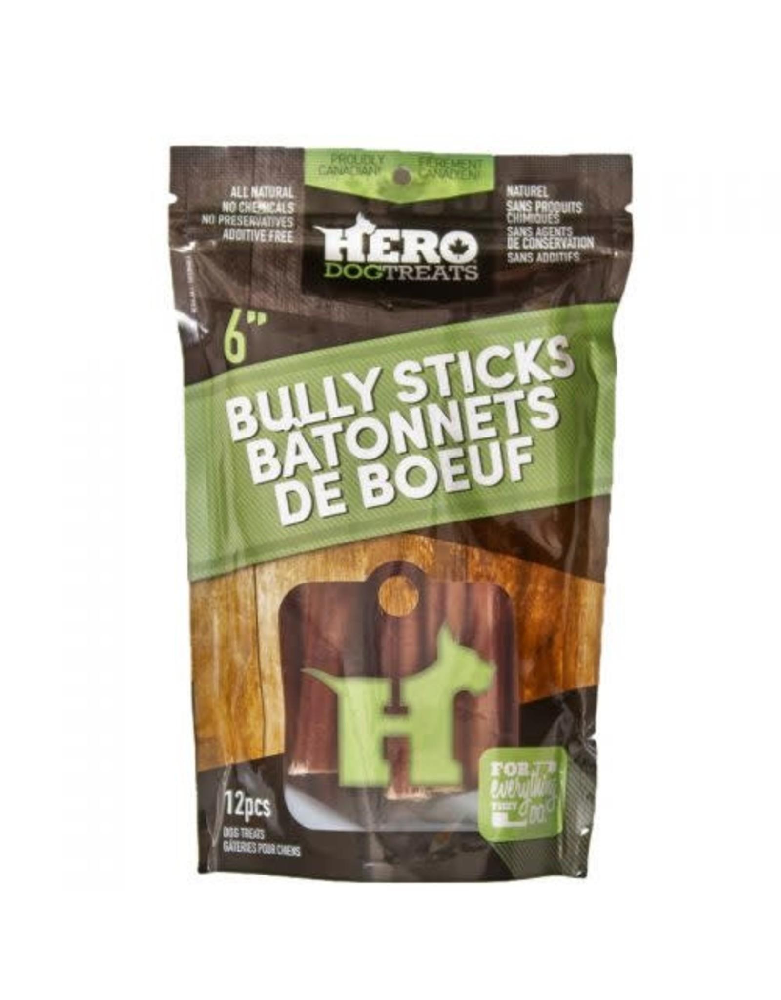 "HERO HERO Dehydrated Beef Pizzle 6"" - 12 pk"
