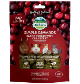 OXBOW Oxbow SimpleRewards Baked Treats Cranberry 2oz