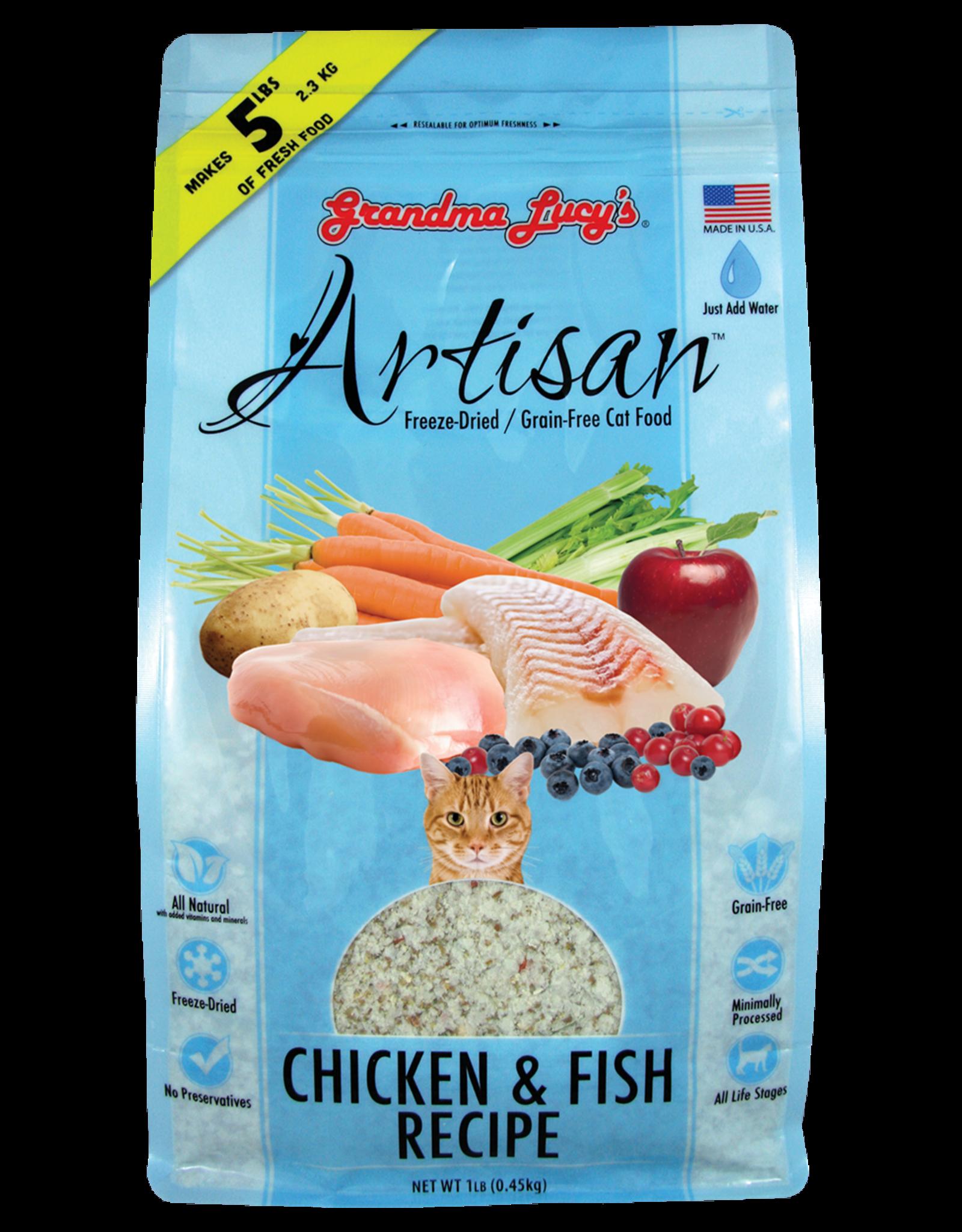 Grandma Lucy GL Artisan for CATS - GF Chicken & Fish 1lbs
