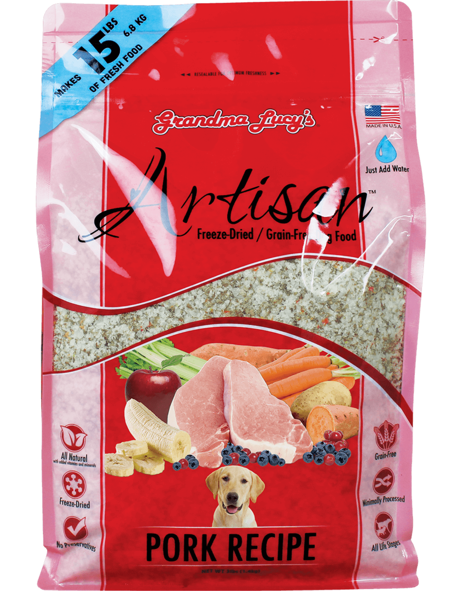 Grandma Lucy GL Artisan for DOGS - GF Pork 3lbs