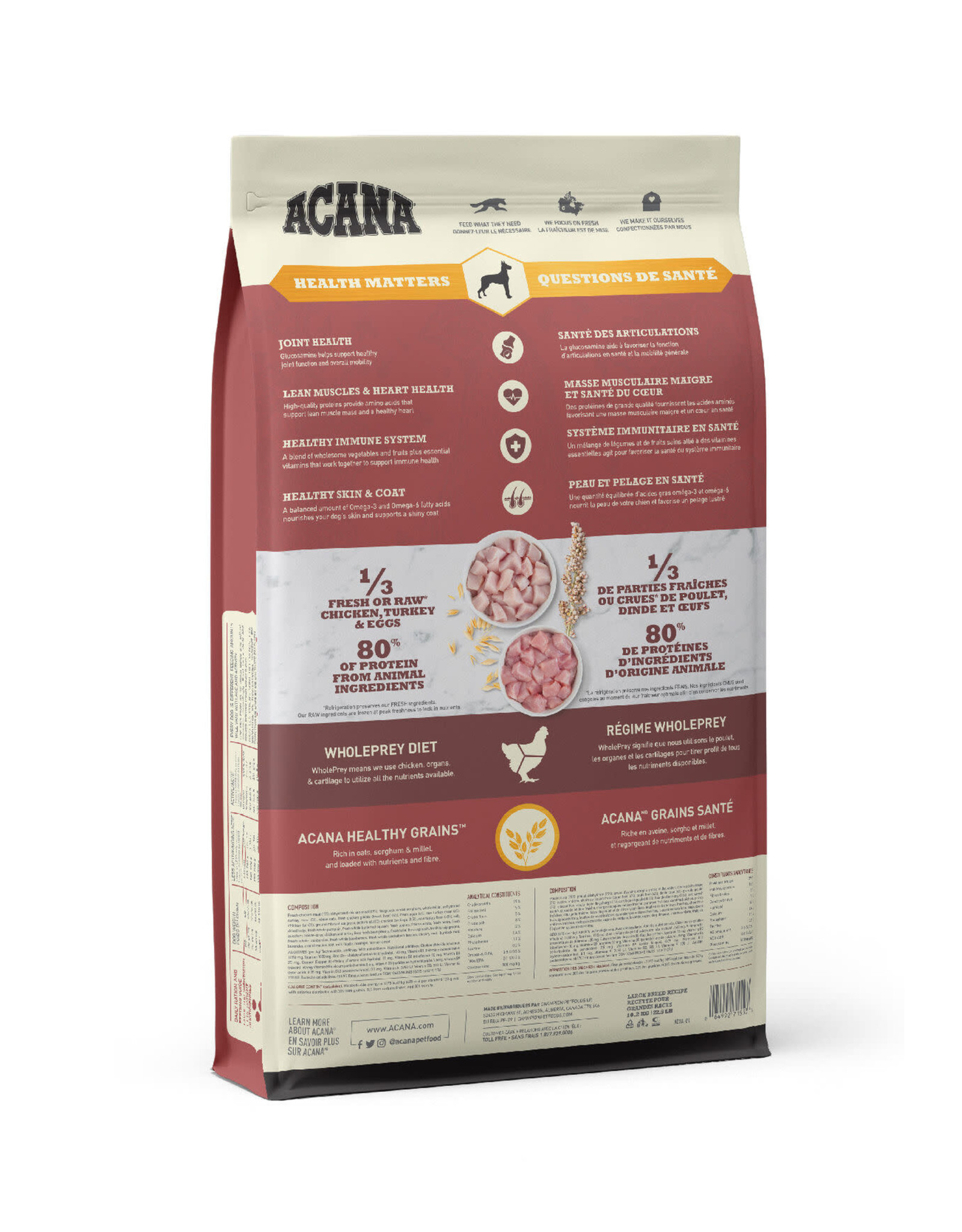 ACANA ACANA HealthyGrains - Large Breed Recipe 10.2kg