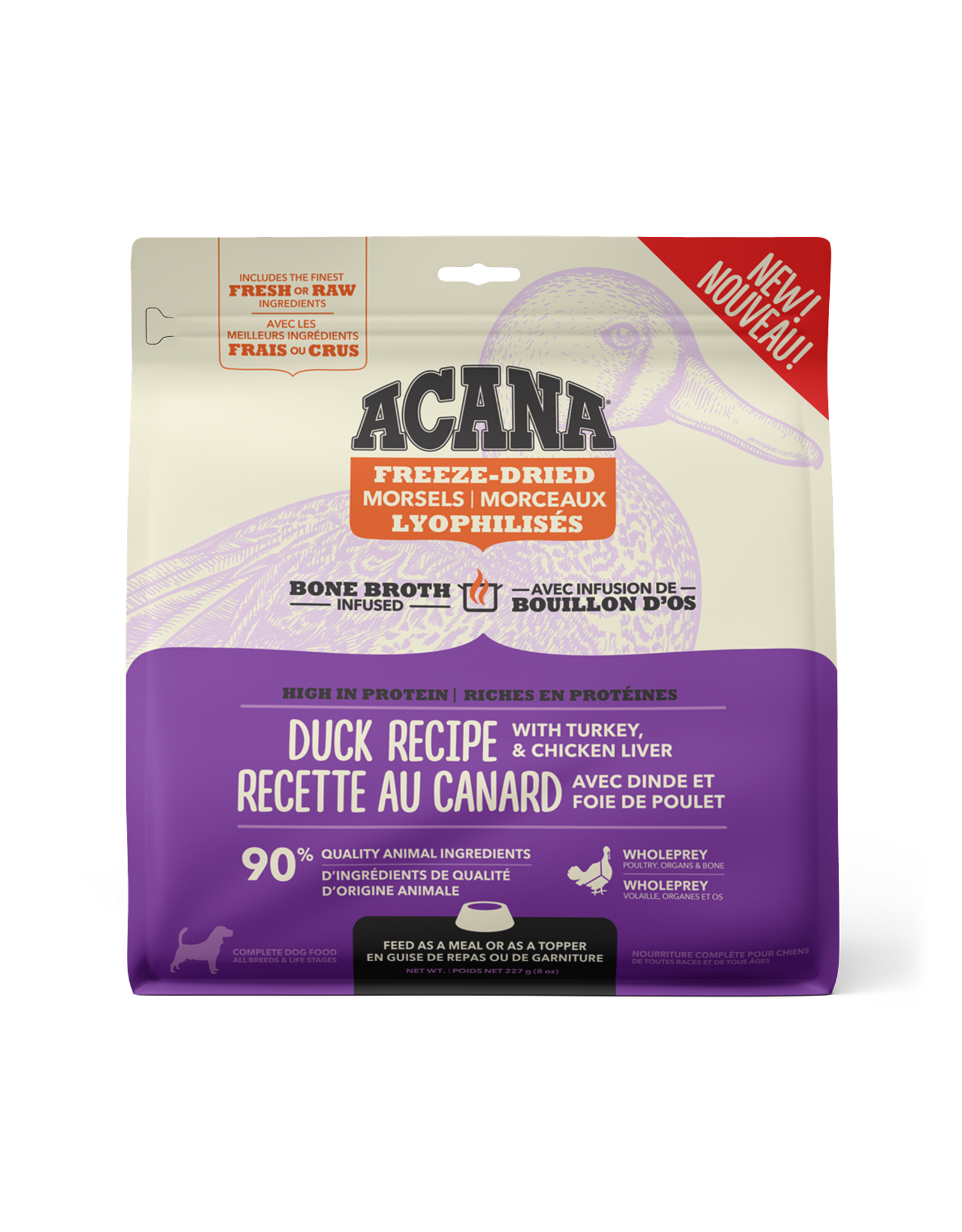 ACANA Acana Freeze-Dried Food - Duck w. Chicken+Turkey Liver Recipe - Morsels  227g