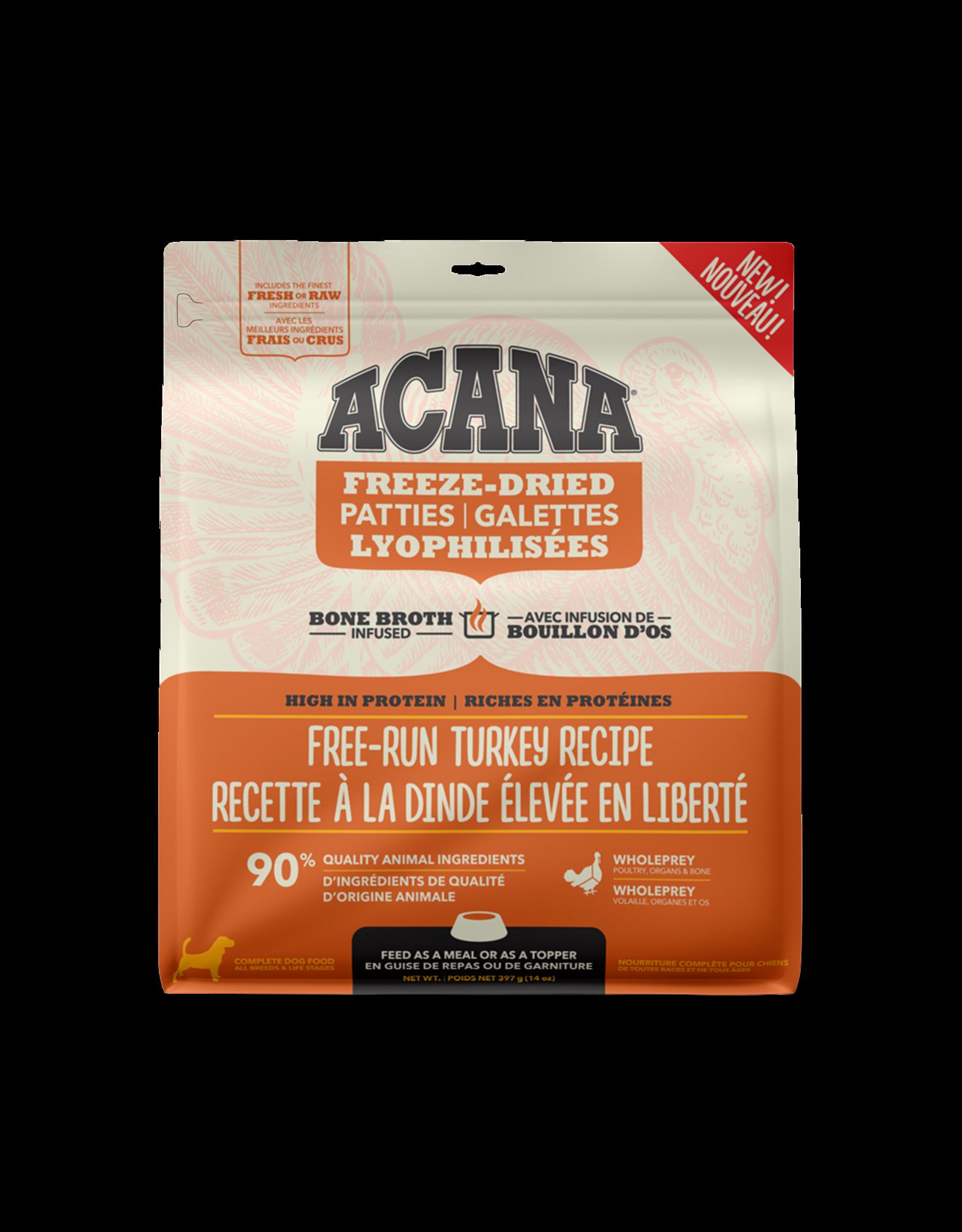 ACANA Acana Freeze-Dried Food - Free-Run Turkey Recipe - Patties 397g