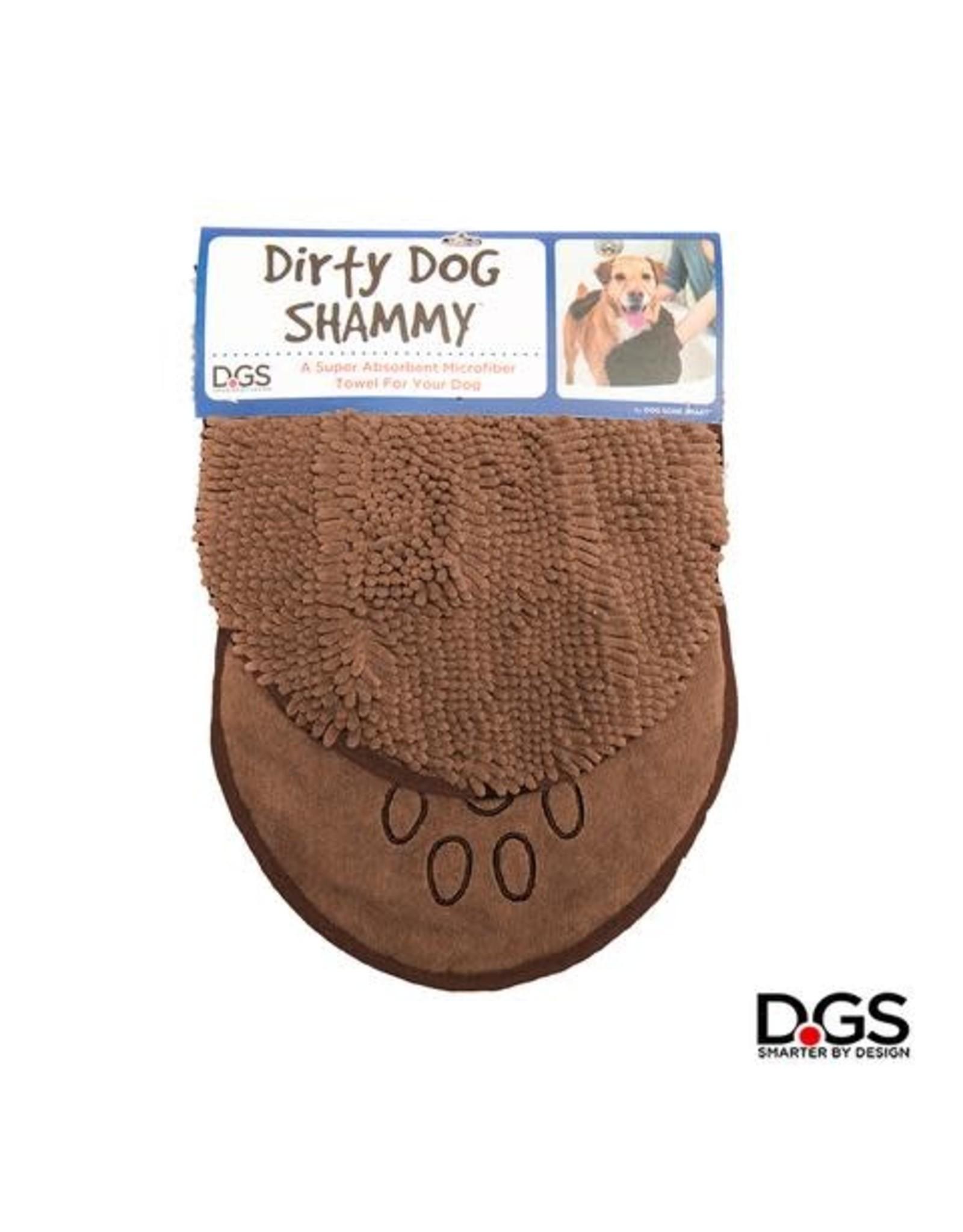 DogGoneSmart DGS Dirty Dog SHAMMY Towel Brown 13x31