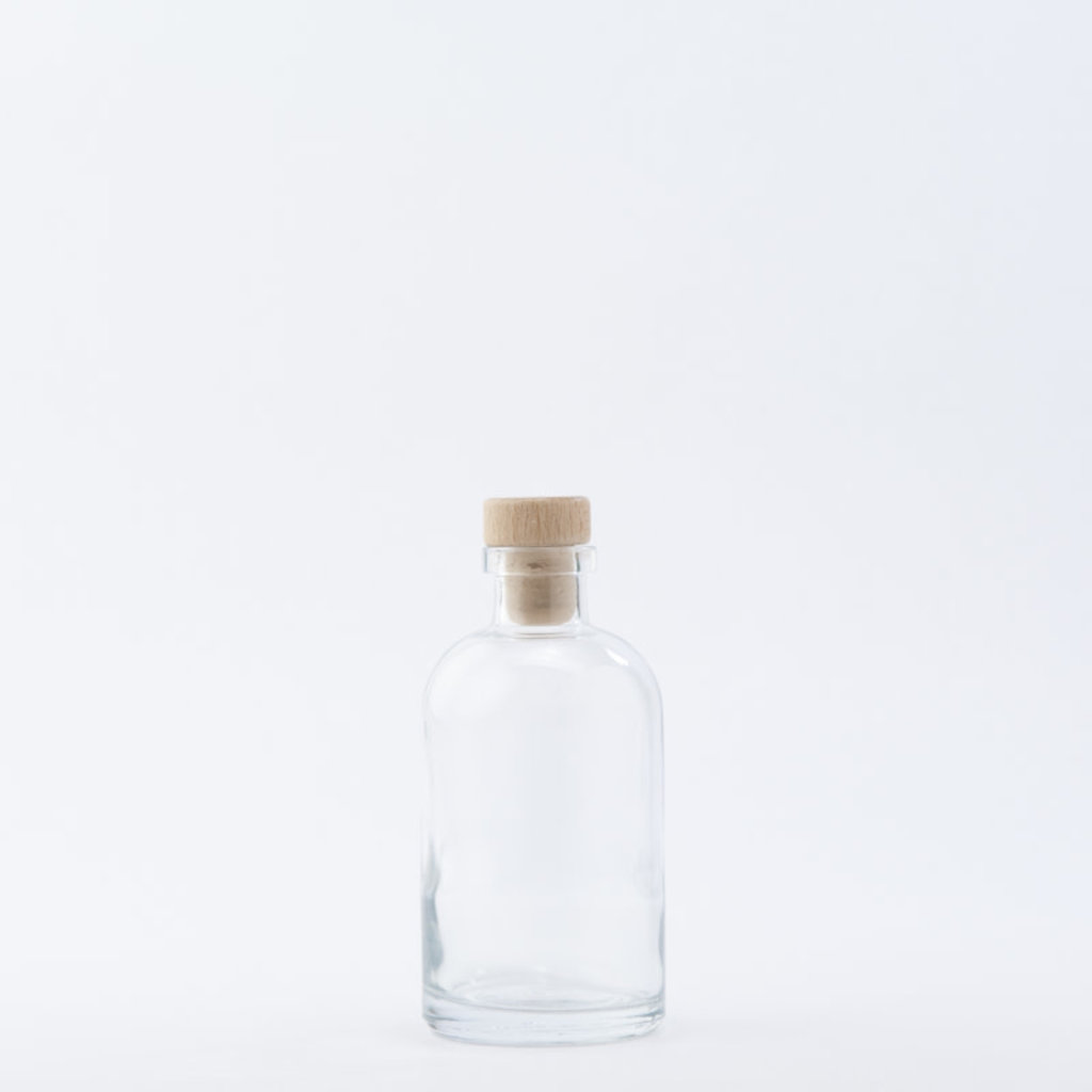 The Refill Shoppe 8 oz Apothecary Bottle / Wood Top