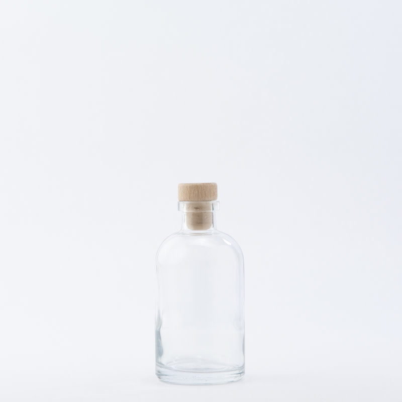 8 oz Apothecary Bottle / Wood Top