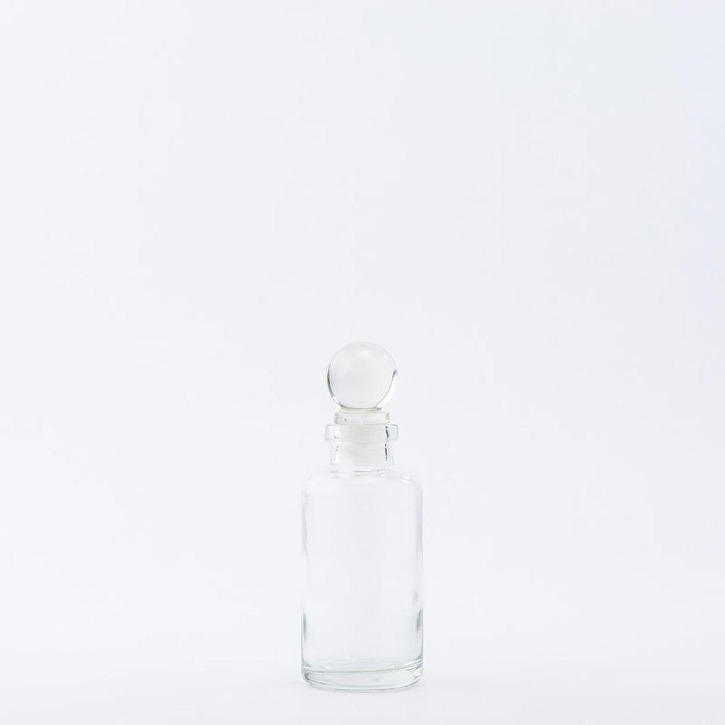 The Refill Shoppe 4 oz  Apothecary Bottle / Glass Top