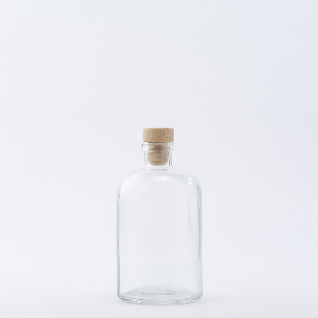 The Refill Shoppe 15 oz Apothecary Bottle / Wood Top
