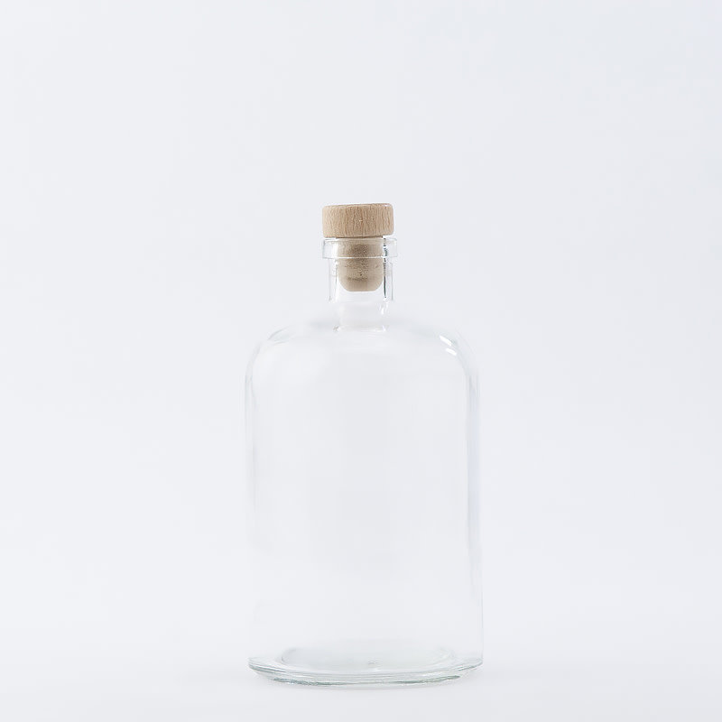 26 oz Apothecary Bottle / Wood Top