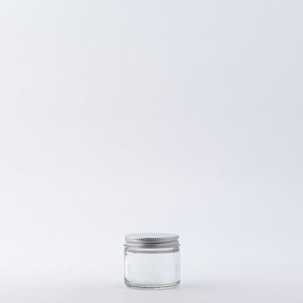 The Refill Shoppe 2 oz Glass Jar / Aluminum Cap