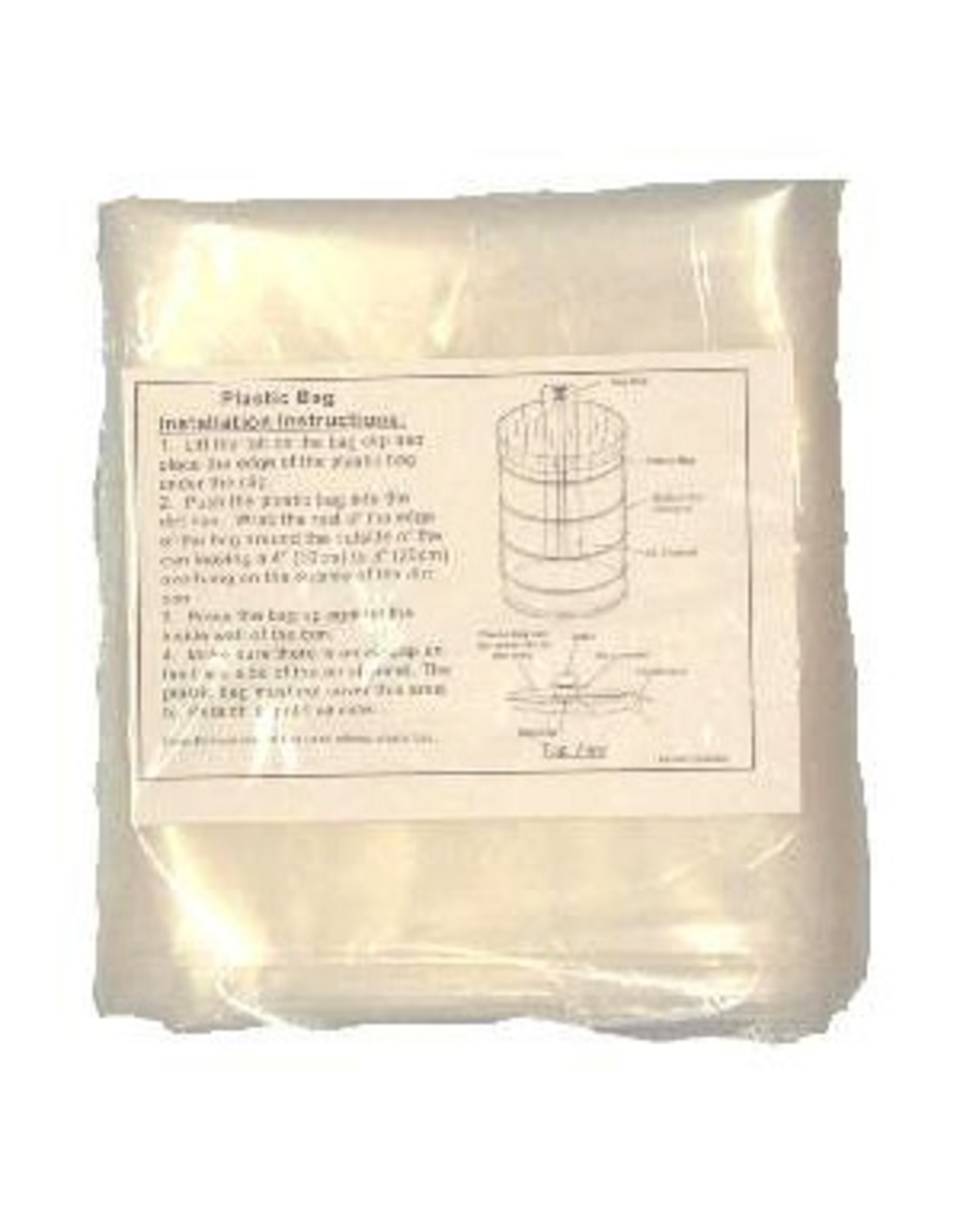 "VacuMaid 4 Mil Plastic bag 4/pkg 12"" Can"