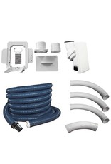 Hide A Hose Hide A Hose 50' Complete Installation kit with Hose and White Inlet Cover