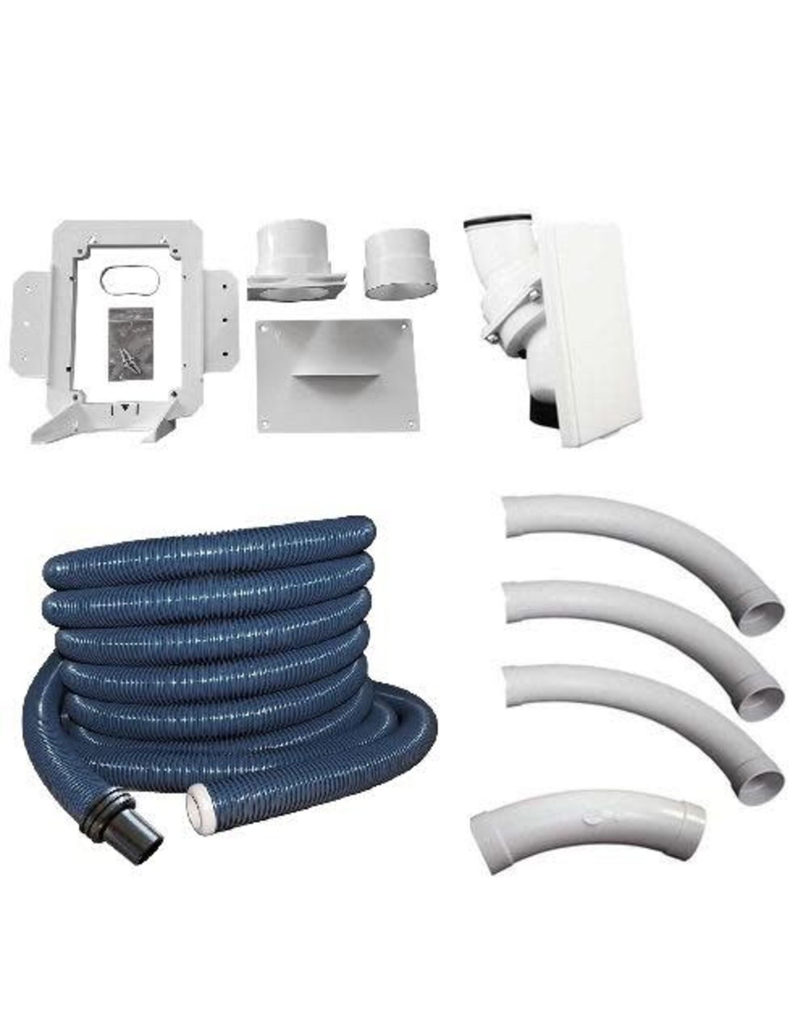 Hide A Hose Hide A Hose 40' Complete Installation Kit with Hose and White Inlet Cover
