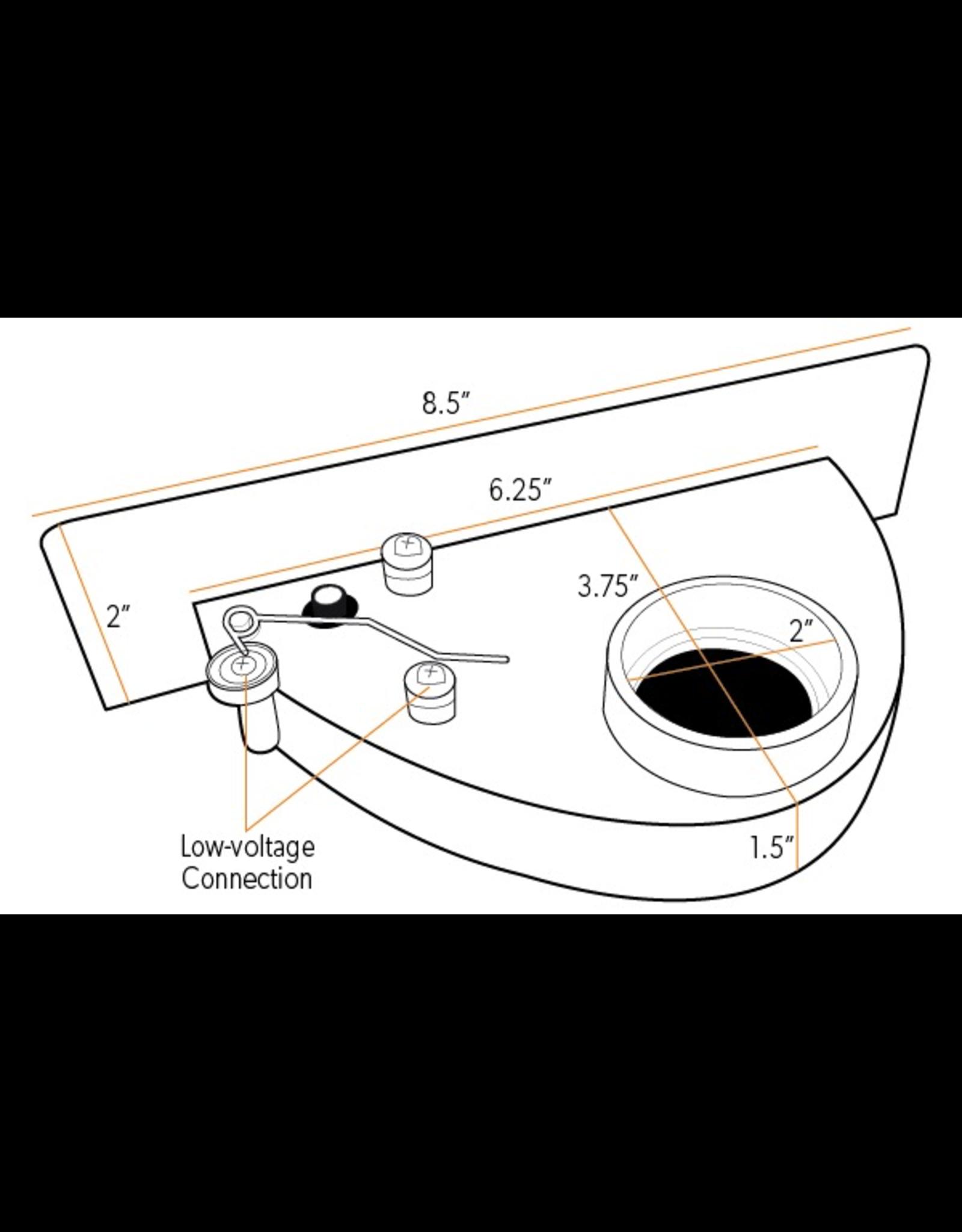 Plastiflex VacPan Sweep Inlet - Black