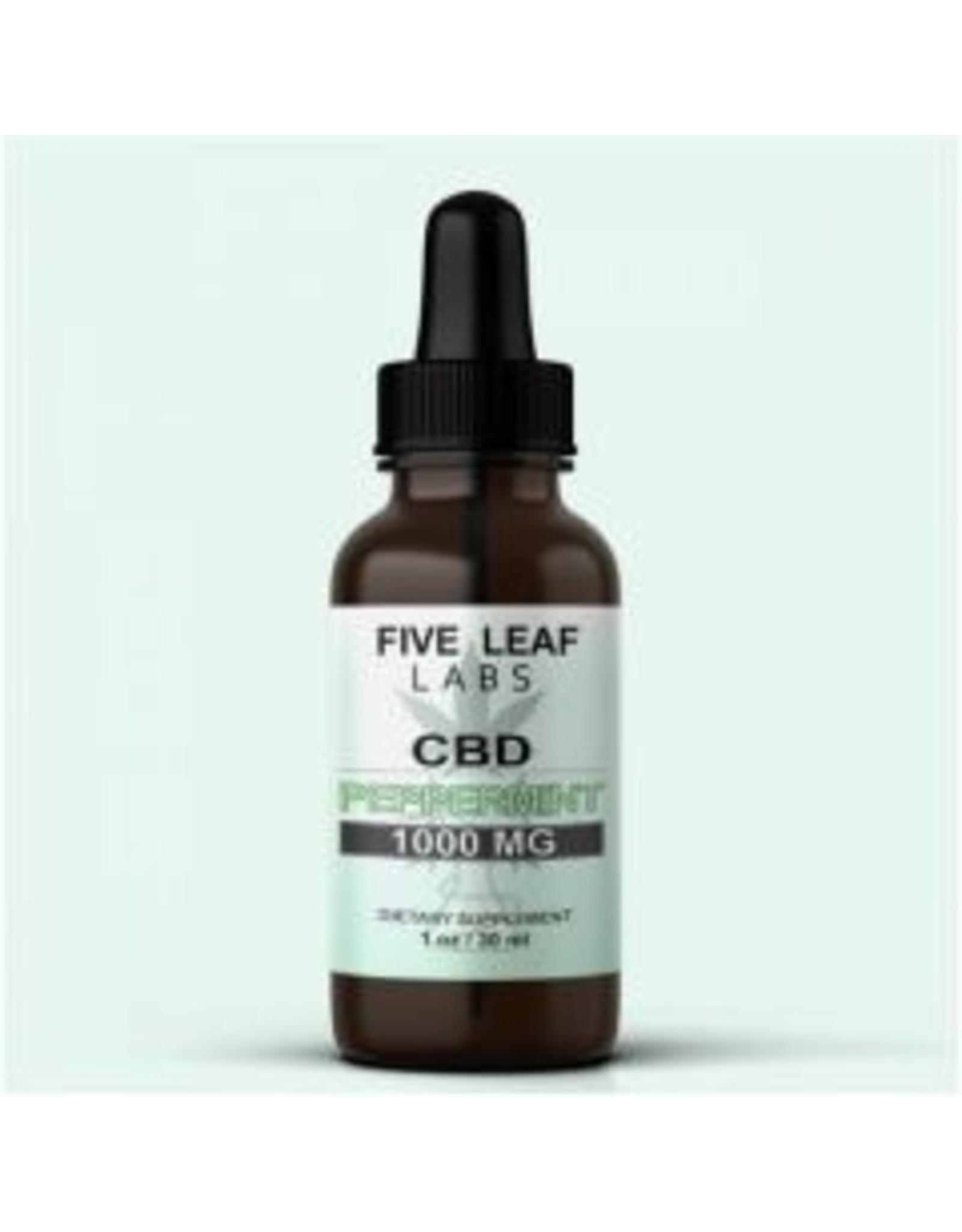 Five Leaf Five Leaf Full Spectrum Tincture Peppermint 1000mg