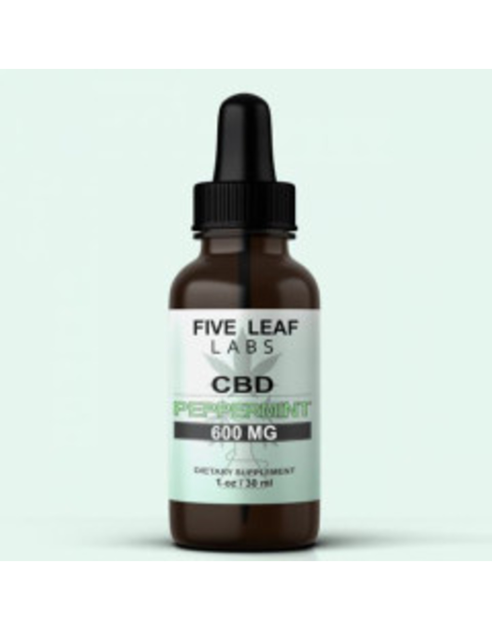 Five Leaf Five Leaf Full Spectrum Tincture Peppermint 600mg