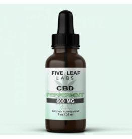 Five Leaf Five Leaf Full Spectrum Tincture Peppermint 600mg