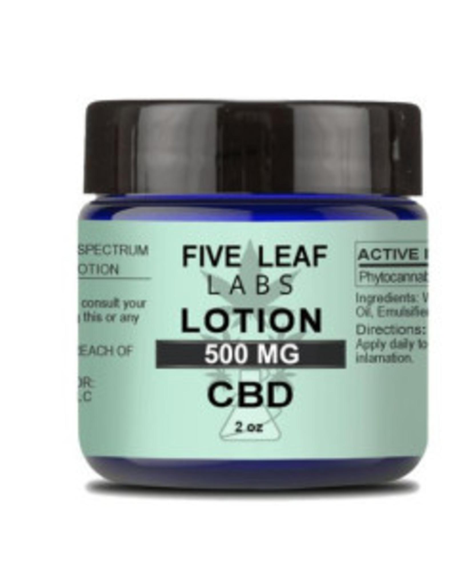 Five Leaf Five Leaf Lotion Natural 500mg