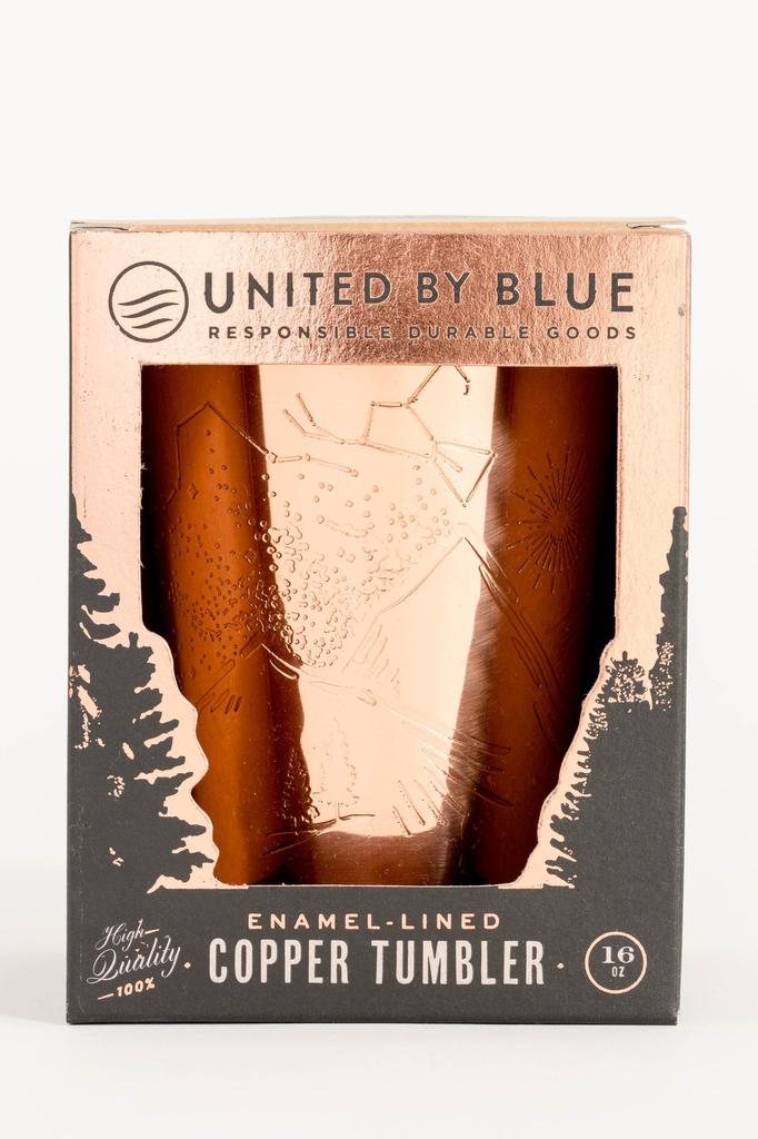 United By Blue United By Blue Mountain Gaze 16oz Enamel Lined Copper Tumbler