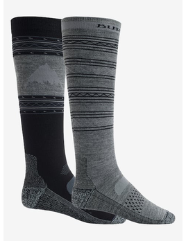 Burton Burton Men's Performance Lightweight 2-Pack Snowboard Sock