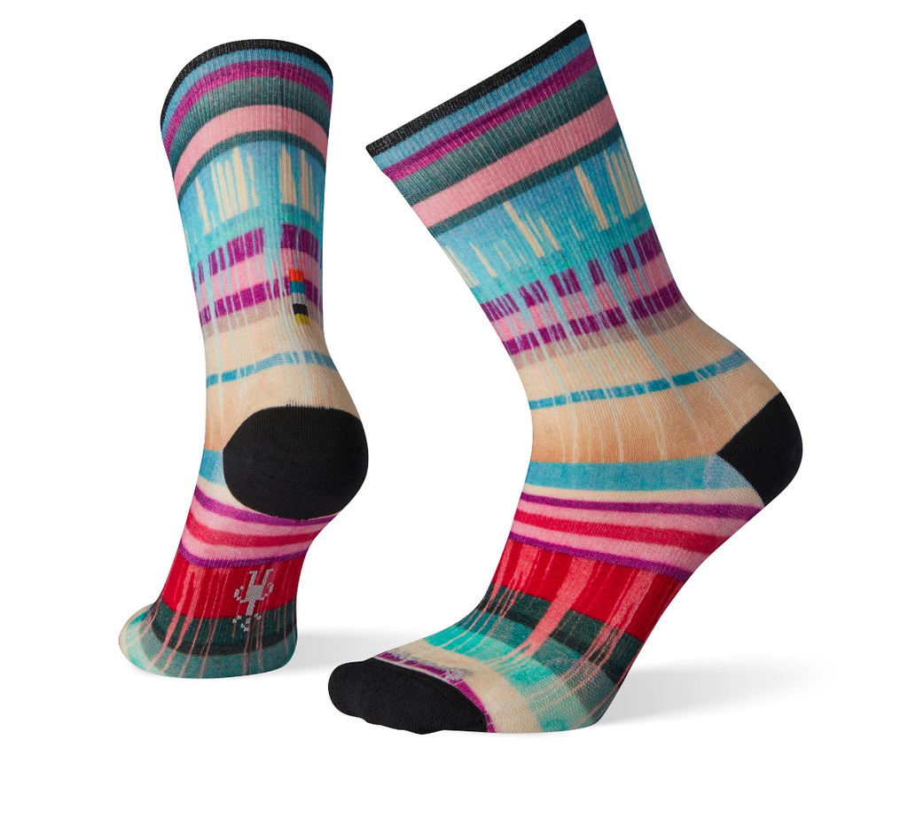 SMARTWOOL Smartwool W's Curated Drippy Stripes Crew Sock