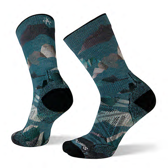 SMARTWOOL Smartwool Men's PhD Outdoor Light Mountain Camo Print Hiking Socks