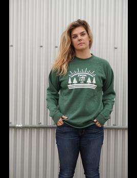 OUTTABOUNDS Outtabounds Fresh Air is Best Air Raglan Crewneck Sweatshirt