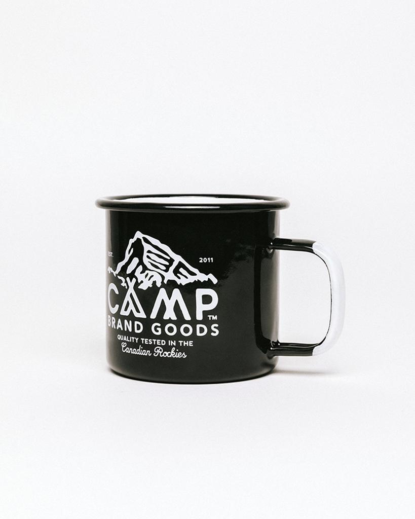 Camp Brand Goods Camp Brand Peak Logo Enamel Mug