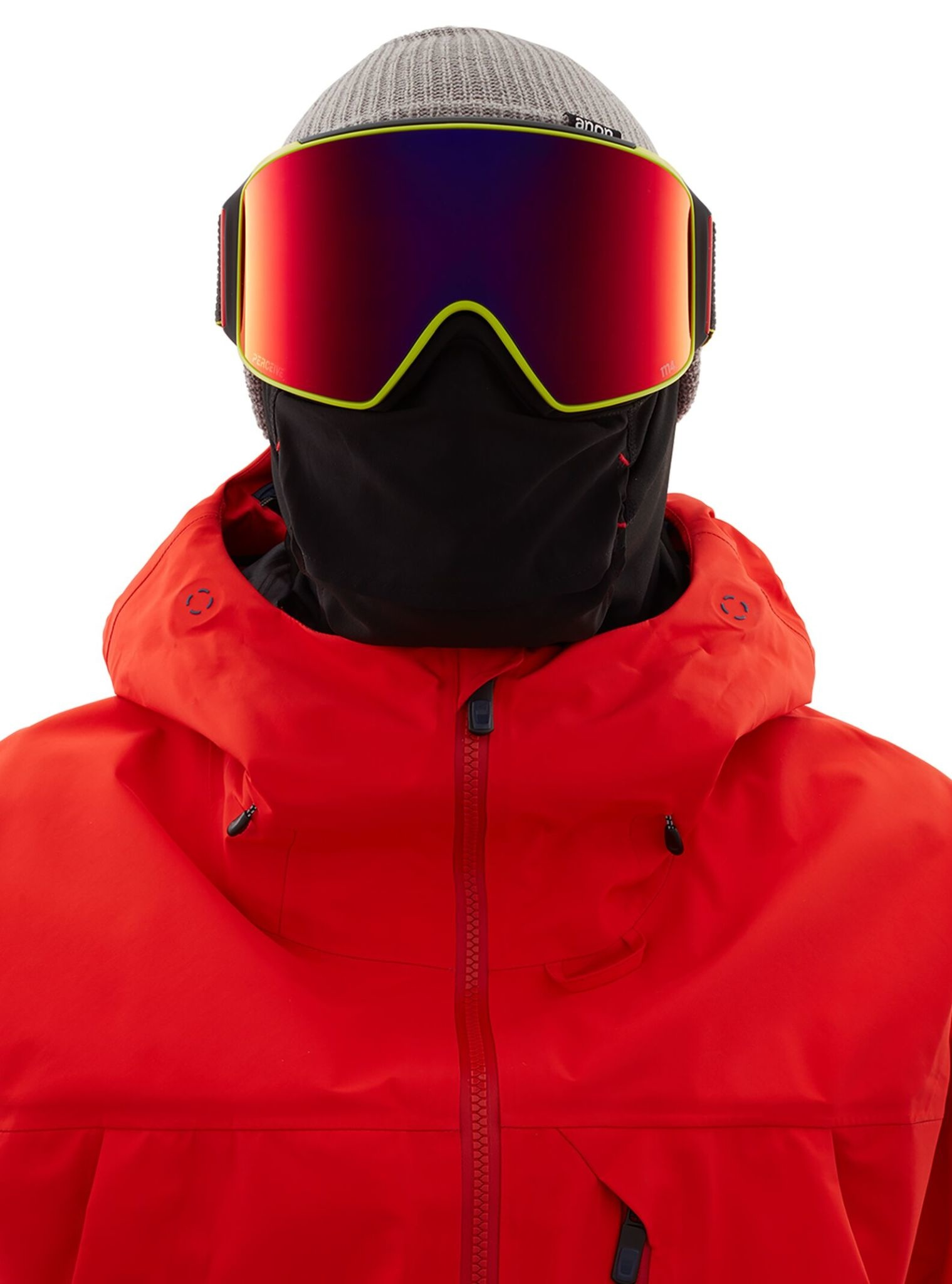 Anon. Anon Men's M4 Cylindrical Goggle + Spare Lens + MFI Face Mask
