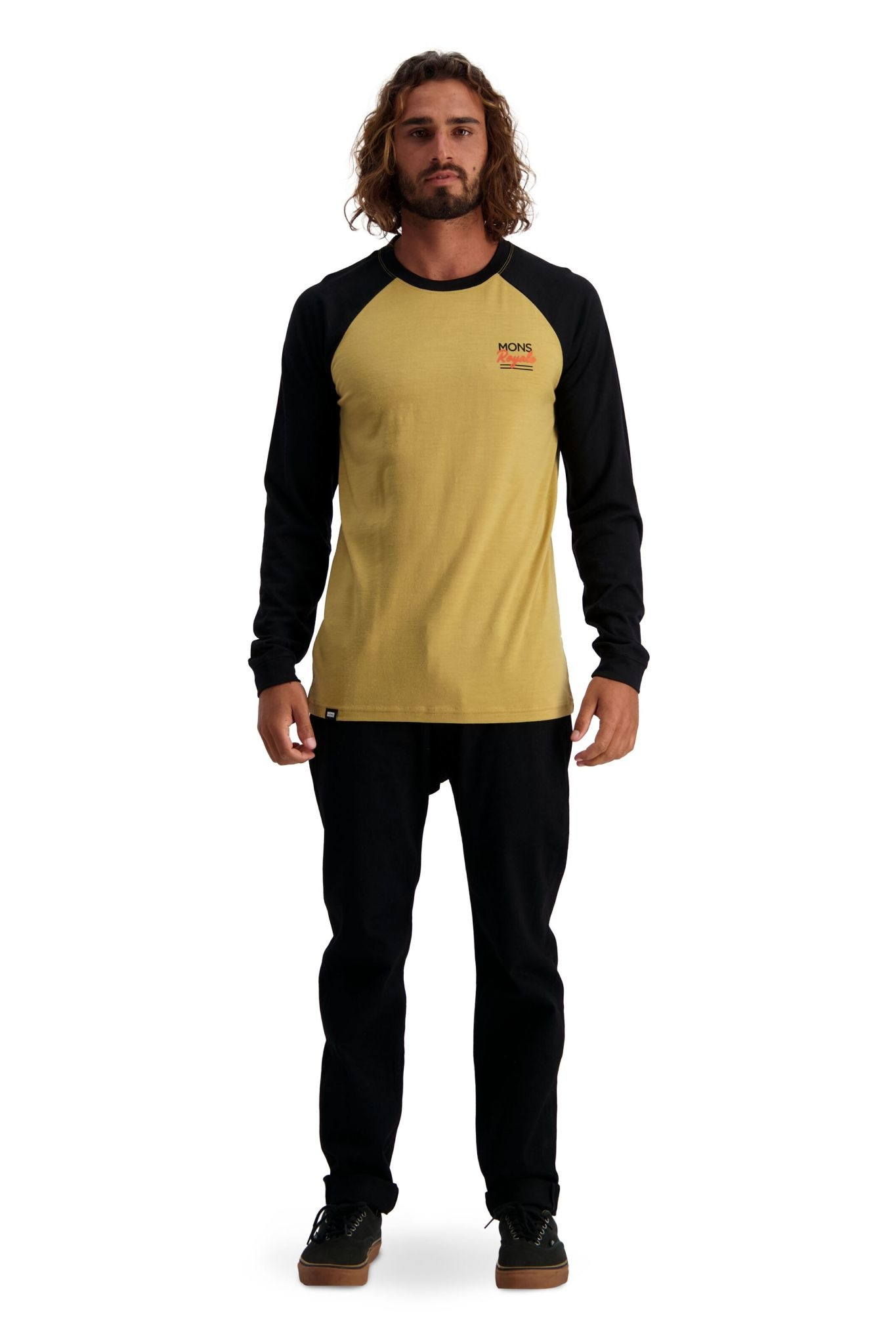 MONS ROYALE Mons Royale Men's The Go To Raglan LS Shirt
