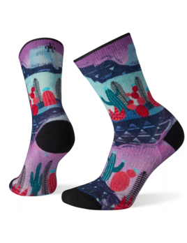 SMARTWOOL Smartwool Women's PhD Outdoor Light Print Crew Hiking Socks