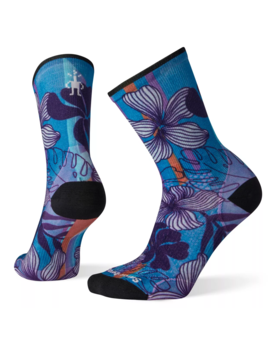 SMARTWOOL Smartwool Women's PhD Cycle Ultra Light Print Crew Socks